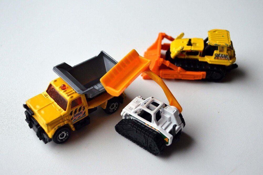 matchbox construction bulldozer truck loader