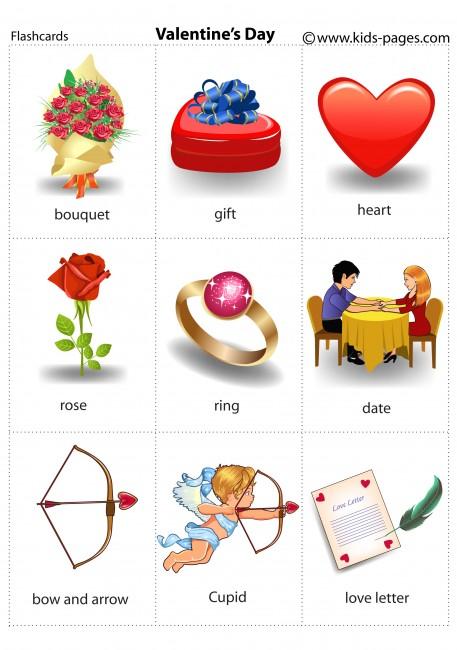 Valentines Day Flashcard