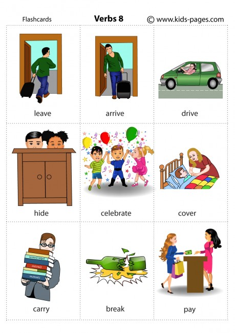 Actions 8 Flashcard