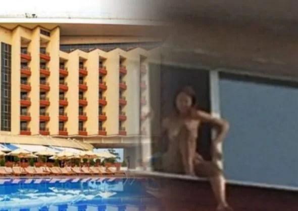 гостиница и девушка голая