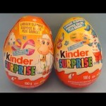 2 Large Kinder Surprise Eggs Opening and Unboxing  wth Larger Surprise