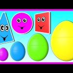 3D Surprise Eggs Smallest to Biggest! Learn Colors Shapes & Sizes for Kids Baby Toddler