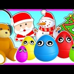5 Little Monkeys (Surprise Eggs) | Christmas Xmas Surprise Eggs Different Colors | Nursery Rhyme