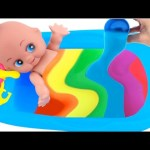 Baby Doll Bathtime Clay Slime Surprise Inside Out Mickey MLP RainbowLearning