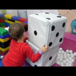 Ball pit for funny kids. Playing time. Video from KIDS TOYS CHANNEL