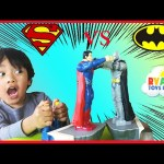 Batman Vs Superman Toys Dawn of Justice Batmobile Car Family Fun Game for Kids Ryan ToysReview