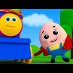 Bob The Train | Humpty Dumpty Sat On A Wall | 3D Rhymes | Nursery Kids Songs
