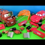 Cars 2 Gear Up and Go Lightning McQueen With Mater Buildable FunToys Review Disney Pixar