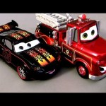 Cars 2 Hot Rod Lightning McQueen & Rescue Mater Chase Diecast 2013 Disney Cars Toon Pixar toys