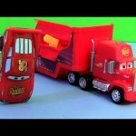 Cars 2 Stunt Racers Mack Truck Hauler with Lightning McQueen Transforming Transporter Disney Pixar