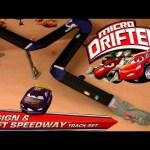 Cars Micro Drifters Design & Drift Speedway Track Playset 9-CARS Launcher Disney Pixar drifting toys