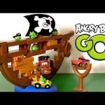Cars Pirate Mater Angry Birds Go! Jenga Pirate Pig Attack Game Playset Disney Pixar toys review