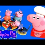 Cooking Peppa Pig Carry Case Playset – How To Make Play Doh Veggie Cheese Pizza