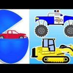 Counting STREET VEHICLES ★ Cars and Trucks for Children ★ Animated Surprise Eggs ★ Learn to Count
