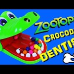 CROCODILE DENTIST Board Game Zootopia Surprise Toys & Gumballs Family Game Night Toy DisneyCarToys
