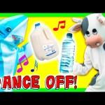 DANCE CHALLENGE Cow vs Shark TheEngineeringFamily Funny Kids Chalenge Toys Video