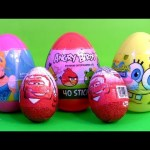 Disney Cars 2 Kinder Egg Toy Surprise Angry Birds Easter Egg Spongebob Squarepants Holiday Edition