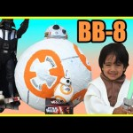 Disney Toys STAR WARS THE FORCE AWAKENS BB 8 Droid UNBOXING Thomas the tank Engine Ryan ToysReview