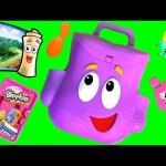 Dora Surprise Eggs from Dora the Explorer Talking Backpack Surprise Mochila Zaino 도라 가방 sac à dos