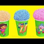 Dora The Explorer Surprise Eggs Play Foam Ice Cream Shopkins Paw Patrol TNMT Mashems  Toys Surprises