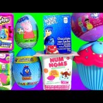 Elsa Cupcake Surprise Disney Princess NUM NOMS My Little Pony Galinha Pintadinha Peppa Pig SHOPKINS