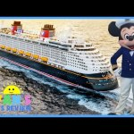 Family Fun Trip Disney Cruise Fantasy 2016 Day 1 Mickey Mouse  Disney Toys for Kids Ryan ToysReview