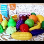 Fruits and vegetables toys for children. Unboxing toy playset and learn names.