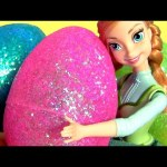 Giant Sparkling Egg Surprise Disney Frozen Princess Anna Elsa Toy Surprises