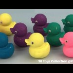 Glitter Play Dough Ducks with Undersea Animals Molds Fun for Kids