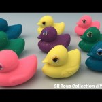 Glitter Playdough Ducks with Winnie the Pooh Molds Fun and Creative for Kids