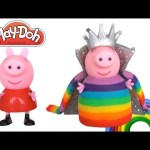 How to Make Peppa Pig a Play Doh Rainbow Princess Dress | Learn Colors | RainbowLearning