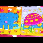 Kids make puzzle . Video with toys for children . Funny