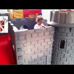 Kids Toys Castle. Kids Playing in Kingdom Playground. Funny video –