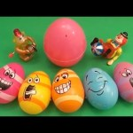 "Kinder Surprise Egg Learn-A-Word! Spelling Food ""Lesson A"" (Teaching Letters Opening Eggs & Toys)"