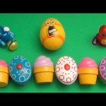 """Kinder Surprise Egg Learn-A-Word! Spelling Food """"Lesson O"""" (Teaching Letters Opening Eggs & Toys)"""