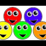 Learn Colors For Children With Smiley Faces Coloring Page