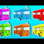 Learn Colors with Animated Surprise Eggs! Opening Surprise Eggs filled with Buses, Colours & Fun!