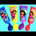 Learn Colors with Dora the Explorer Bath Paint Mickey Minnie Bath Bomb, Peppa Pig bath bomb