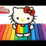 Learn Colors with Play-Doh and Hello Kitty | Ice Cream Popsicle RainbowLearning