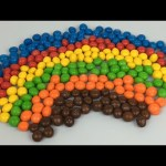 Learn Colours For Children With M&M's Chocolate Candies | Make A Rainbow With M&Ms Candy Colours