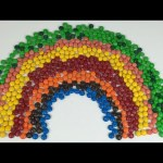 Learn Colours with M&M's Chocolate Candies Rainbow
