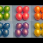 Learn Colours with Surprise Eggs!  Opening 24 Fun Surprise Eggs and Spelling Colours!