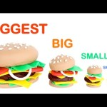 Learn Sizes from Biggest to Smallest for Kids with Play Doh Hamburgers RainbowLearning