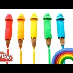 Learn to Count Numbers 1-10 with Play Doh Surprise Pencils, M&Ms and Play Doh RainbowLearning