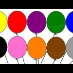 "Learning colours with ""Balloon Colouring Page"" Children's educational video"