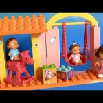 MegaBloks Dora's Family Nursery kindergarten 3081 with Swing & Rocking Horse Building Blocks