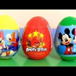 Minnie Mouse Electronic Cash Register SURPRISE EGGS Disney Mickey AngryBirds Huevos Sorpresa