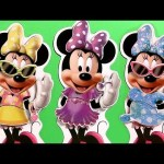 Minnie Mouse Wooden Magnetic Dress-up Dolls BowTique Muñecas Magnéticas de Madera para vestir