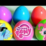 MLP Surprise Eggs Learn Colors with My Little Pony SURPRISE Eggs