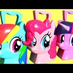 My Little Pony Case Pinkie Pie Rainbow Dash & Twilight Sparkle Hair Case MLP RADZ Surprise Eggs